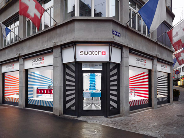 swatch store system 51, Bahnhofstrasse 52, ZÌ1Ú4rich